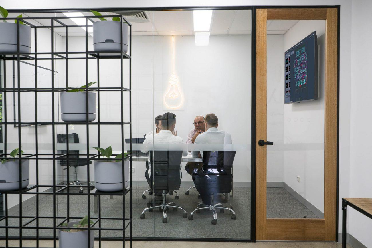 Modern officespace, meeting
