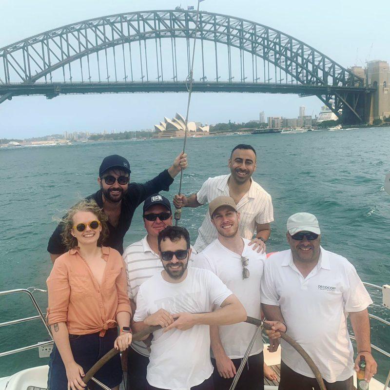 Team building, Sydney Harbour, Sailing, workcrew, christmas party.